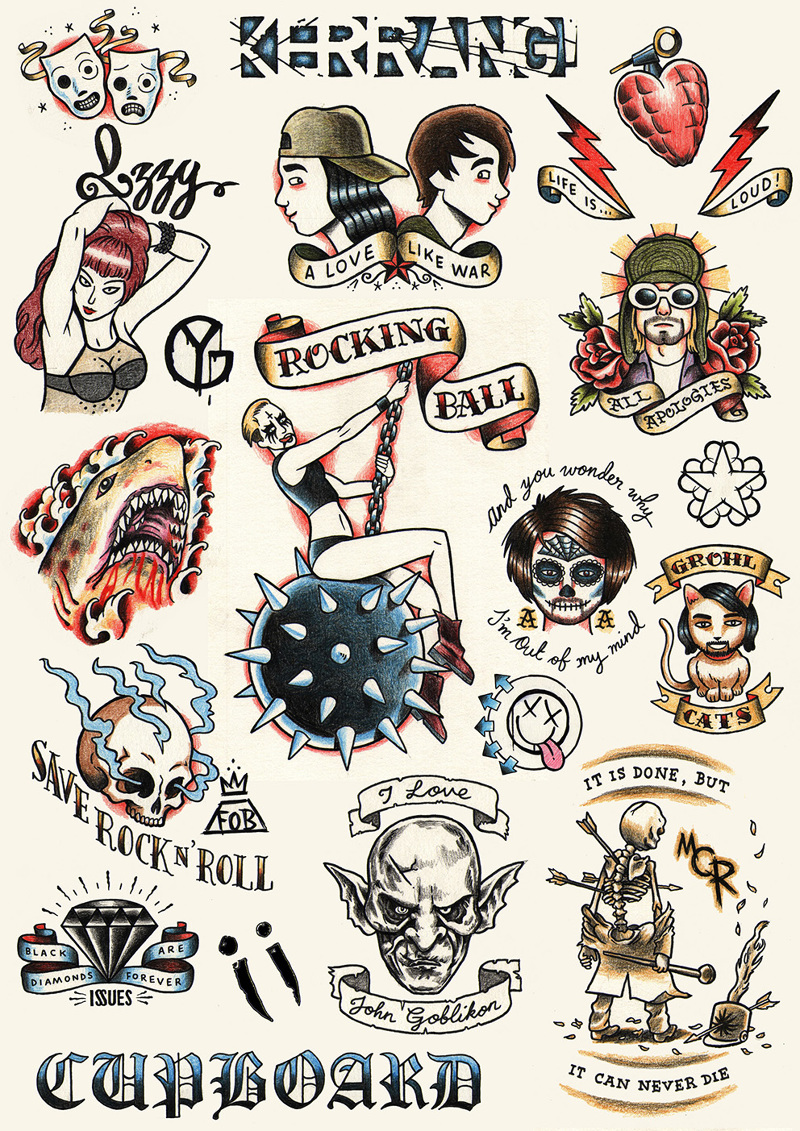 Temporary tattoo designs for free gift supplements across two special