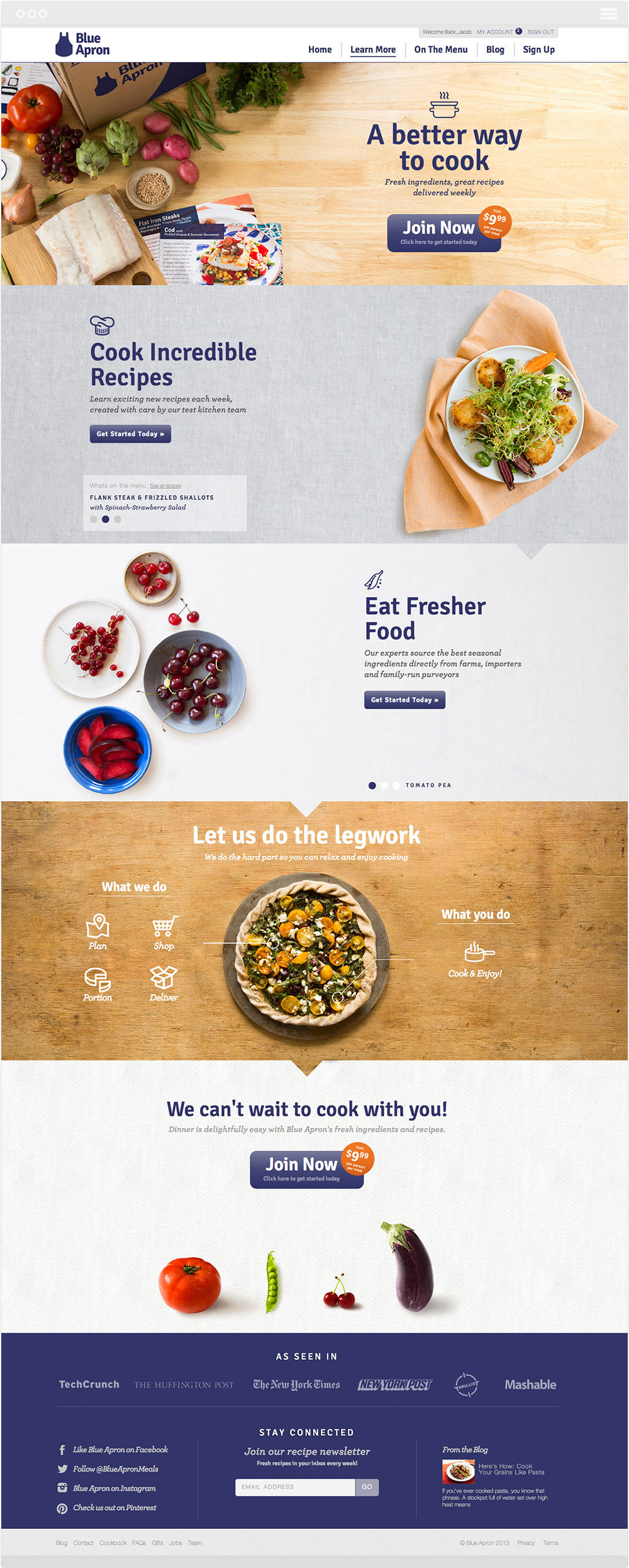 Blue apron quality - Blue Apron Is Dedicated To Bringing Out The Inner Chef In All Of Us By Delivering Fresh High Quality Ingredients For Their Customers To Transform Into