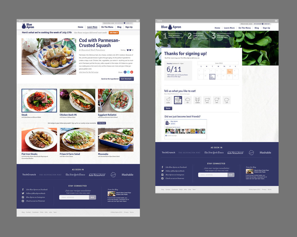 Blue apron advertising - Blue Apron Is Dedicated To Bringing Out The Inner Chef In All Of Us By Delivering Fresh High Quality Ingredients For Their Customers To Transform Into
